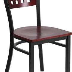 Metal Restaurant Chairs At Sears 12 Square Back Chair Mahogany Wood Seat Direct