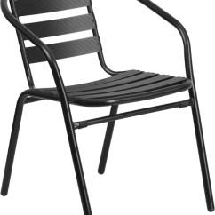 Outdoor Restaurant Chairs Tie Dye Bean Bag Chair Black Metal Stack Aluminum Slats