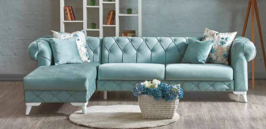 aqua sofa ashley reclining and loveseat san diego best furniture store modern contemporary verona chaise sectional blue bed yellow chair