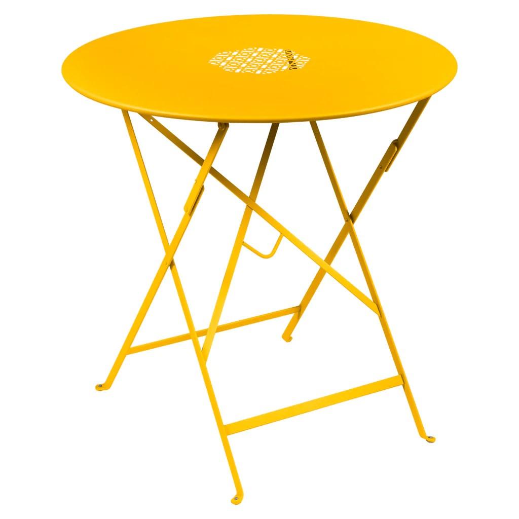 Fermob Lorette 30 Inch Folding Round Dining Table Bon Marche
