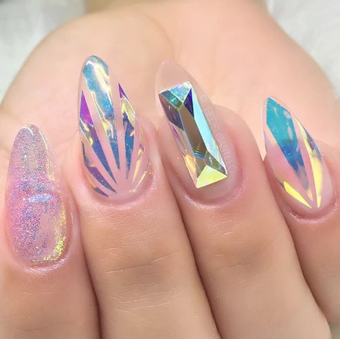 21pcs holographic diy nail art