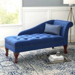 Modern Designed Blue Black Microfiber Chaise Lounge My Aashis