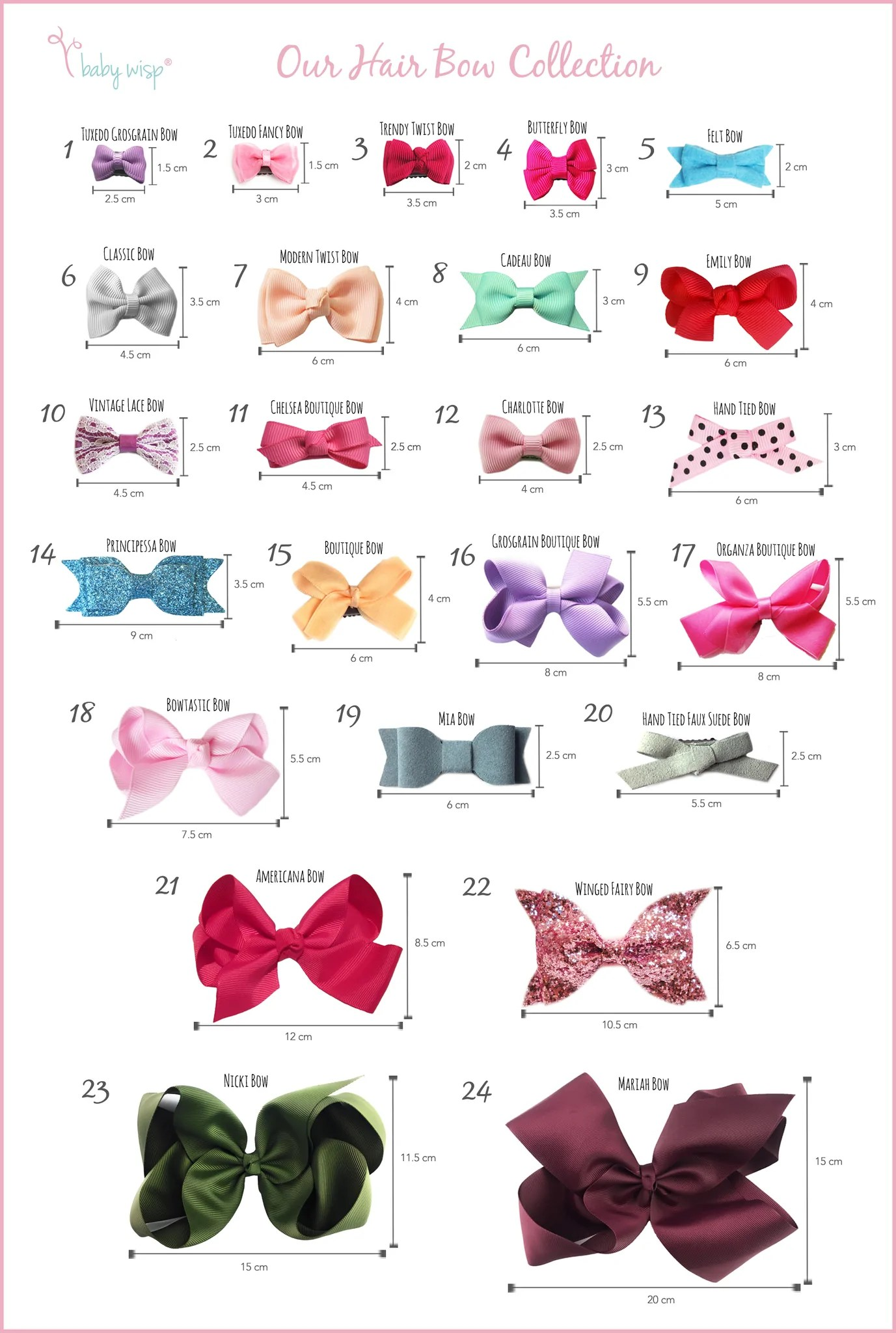 hair bows quick guide baby wisp