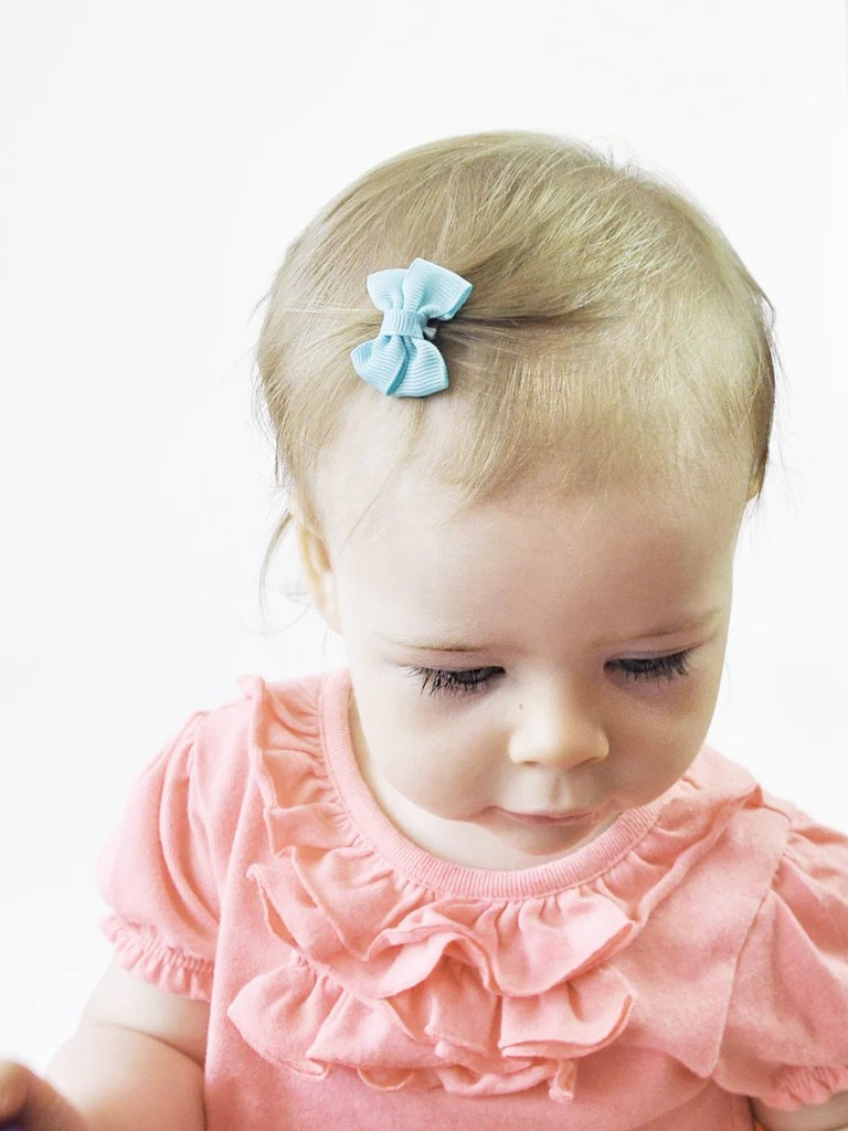 mini latch baby girl hair bow collection