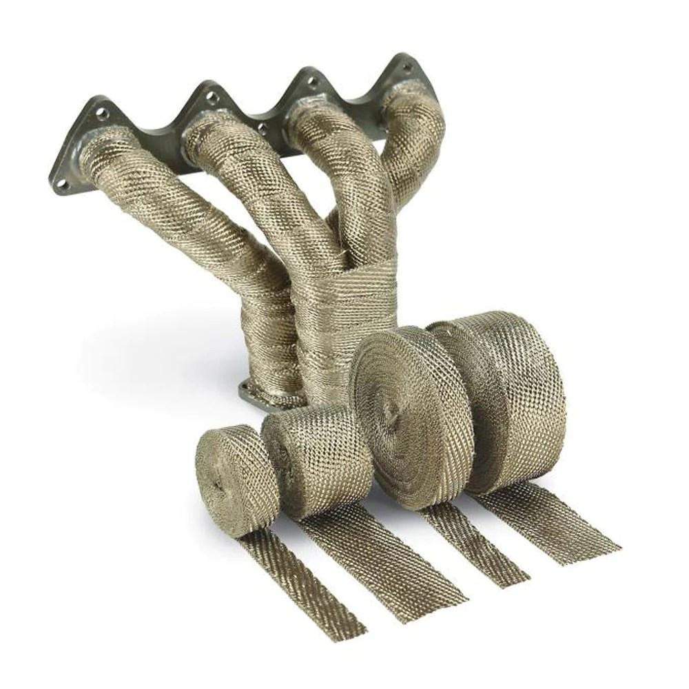 dei titanium exhaust wrap with lr technology