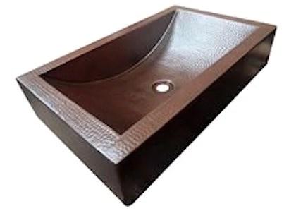 copper trough vessel sink