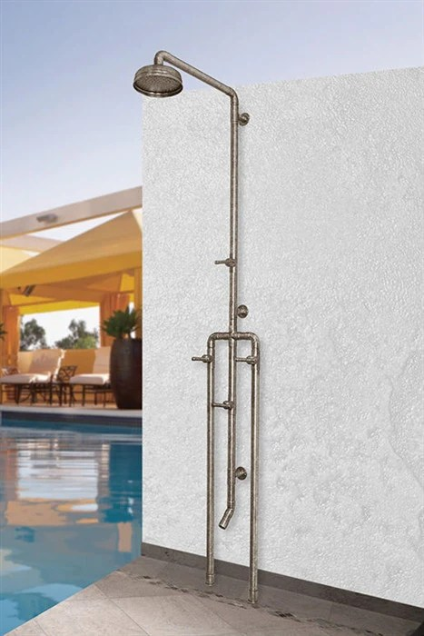 Copper Outdoor Shower Fixtures  RusticSinkscom  Rustic