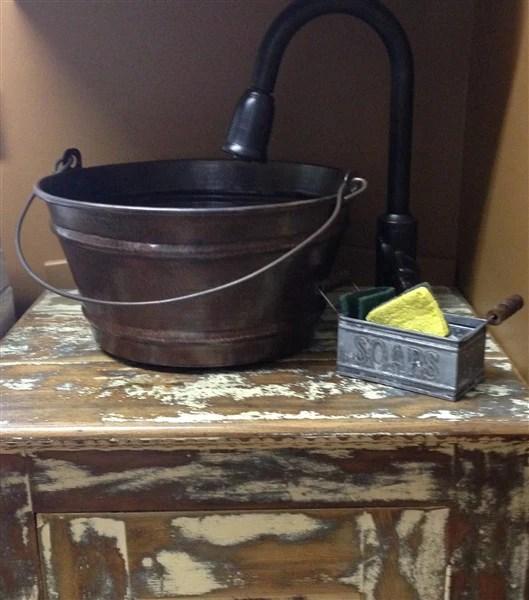 Copper Bucket Sink  Rustic Sinks