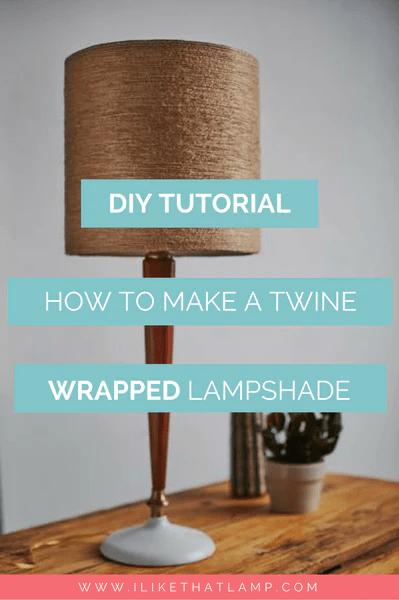 A FallInspired Jute Twine Wrapped DIY Lampshade  I Like