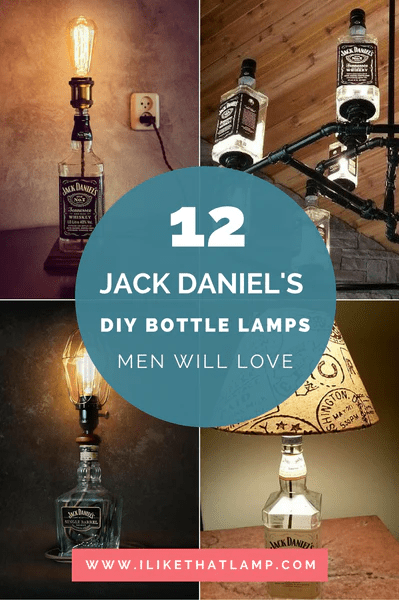 DIY Man Cave Lighting Ideas Jack Daniels Whiskey Bottle Lamps a Man Will Love  I Like That Lamp