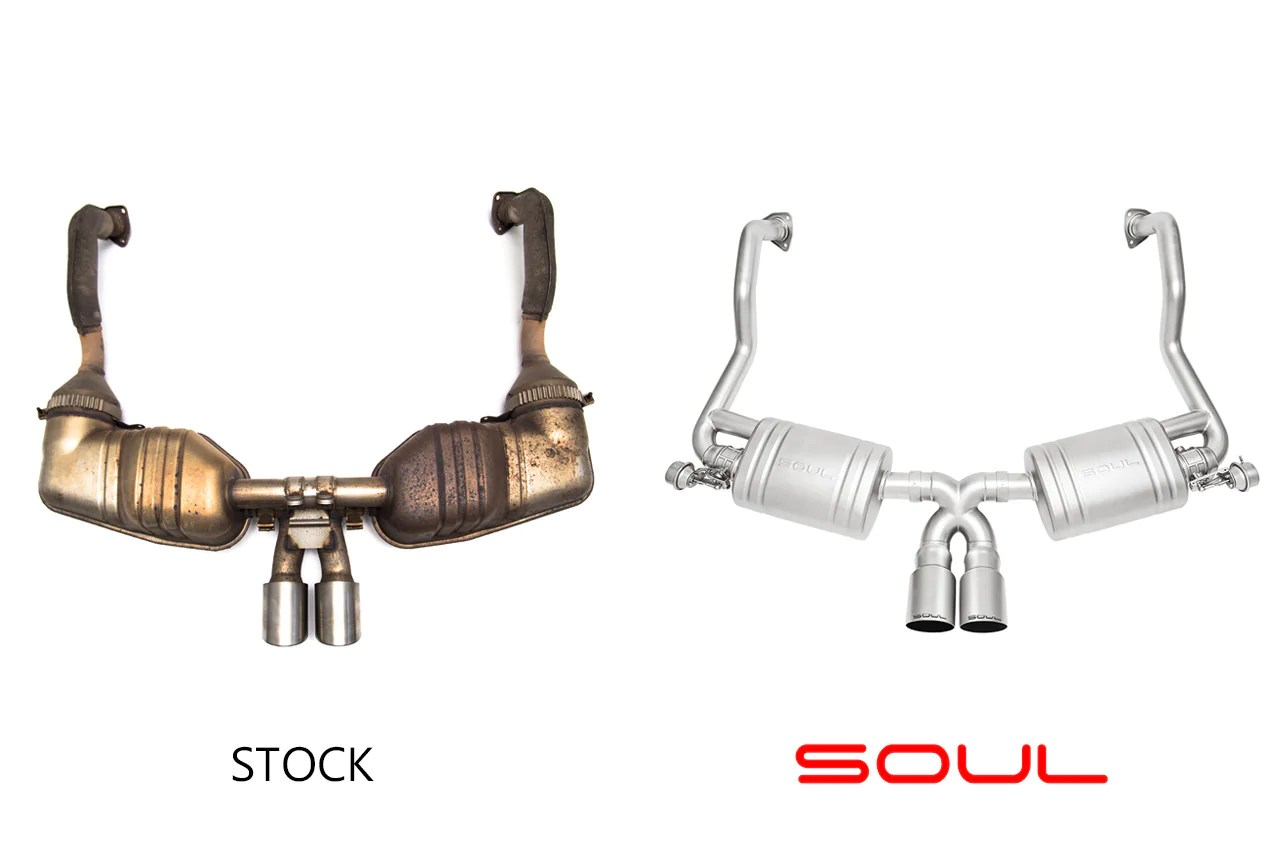 soul performance products valved exhaust system 987 2 cayman boxster