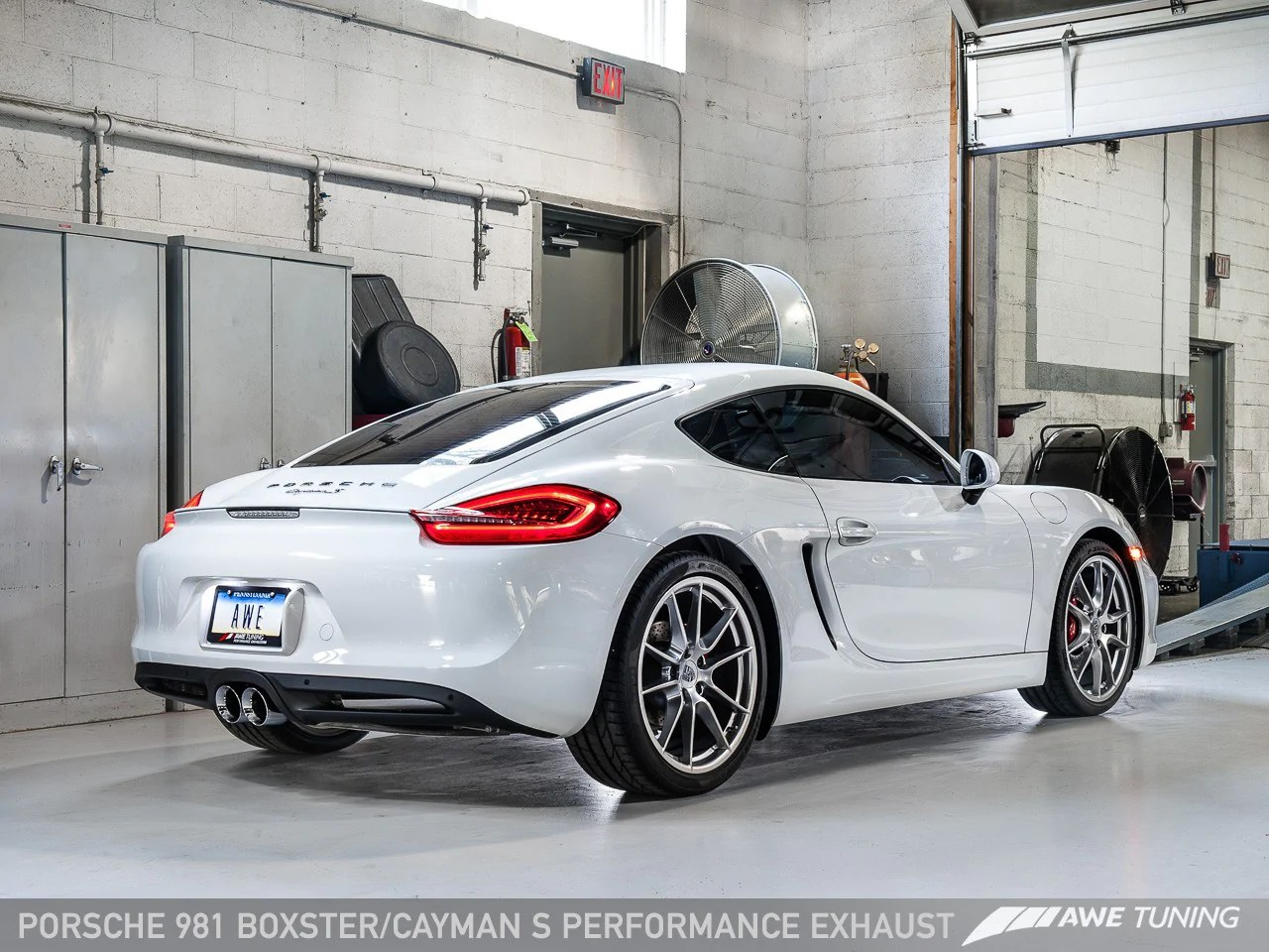 hight resolution of  awe tuning exhaust system cayman boxster 981 flat 6 motorsports porsche