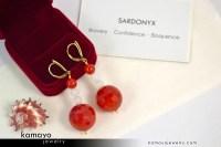 SARDONYX EARRINGS - Beaded Dangle Ear Rings for Women ...