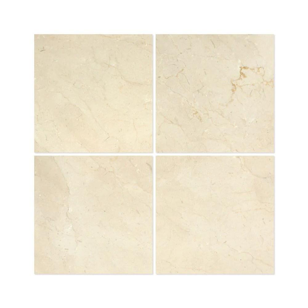 12 x 12 honed crema marfil marble tile premium