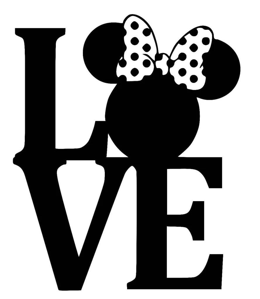 Download Minnie Mouse LOVE Car Window Ipad Tableet PC Notebook ...
