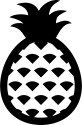 Pineapple Outline Rubber Stamp Food Stamps Fruit and Vegetable Stamps Stamptopia