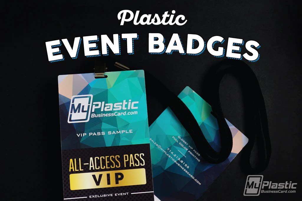 plastic event badges my