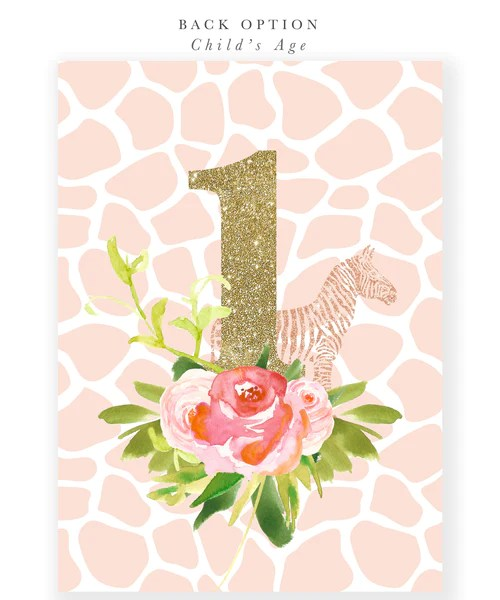 Glam Safari Jungle Girl 1st Birthday Invitation First