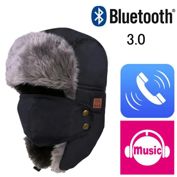 smart bluetooth bomber hat