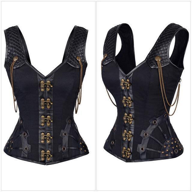 vintage leather corset