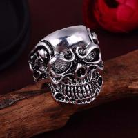 Gothic Men's Skull Biker Ring - American Legend Rider