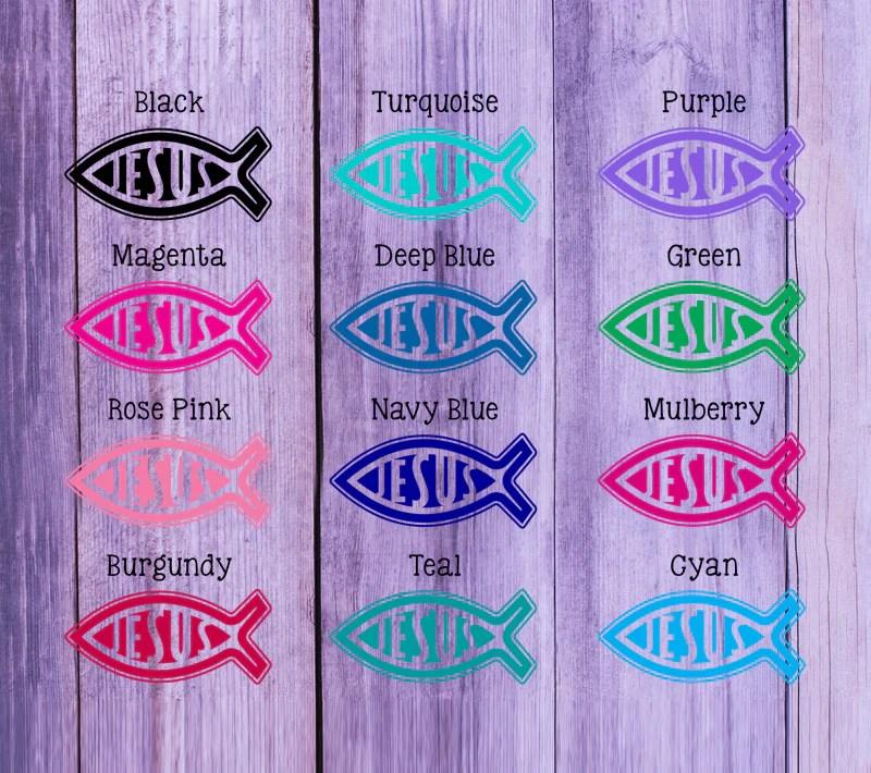 christian fish personalized address