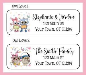 personalized owls in love