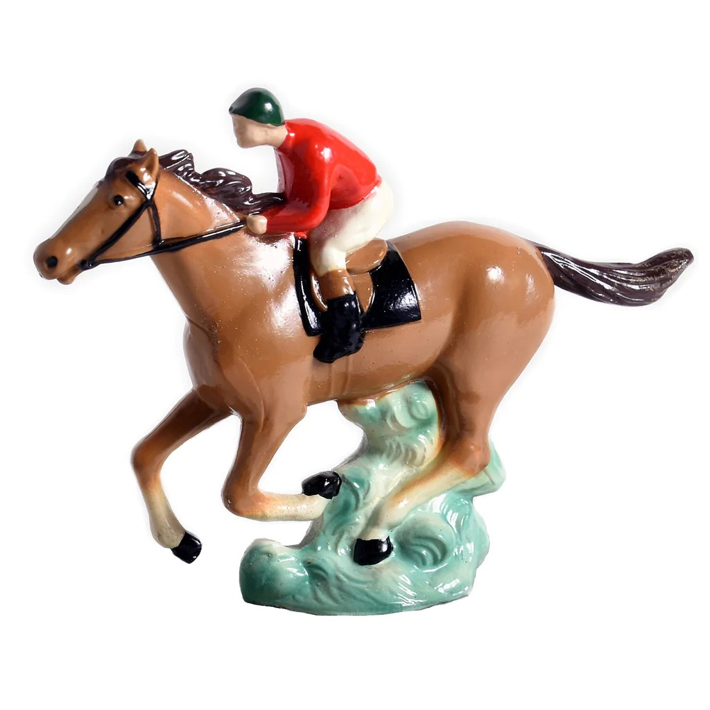 Galloping Racehorse Hood Ornament - Foxhall