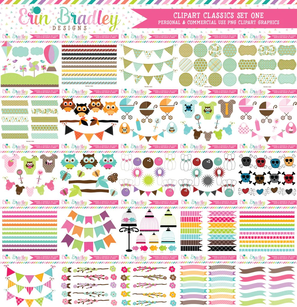 medium resolution of commercial use clipart classics graphics bundle set 1