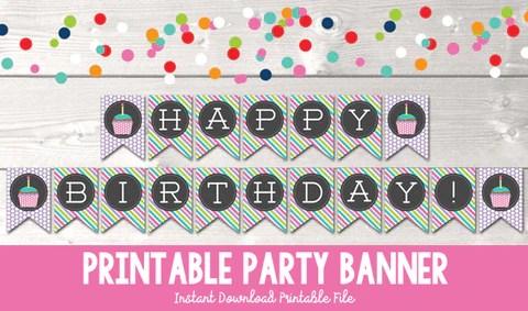 happy birthday cupcake printable