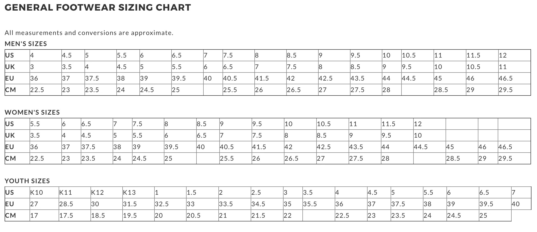 Puma Suede Size Chart Www Homeschoolingforfree Org