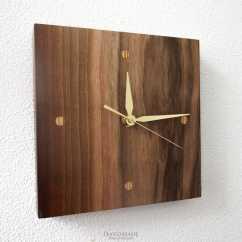 Wooden Kitchen Clock Rug Ideas Clocks Three Snails Handmade Shop Online Ts Solid Wood Wall Coffee Rhythm