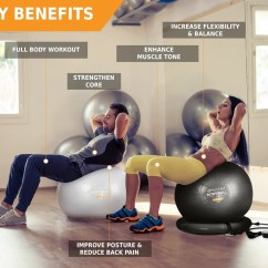 Yoga Ball Chair Reviews Rattan Armchairs Australia Exercise And Resistance Bands Complete Home Gym