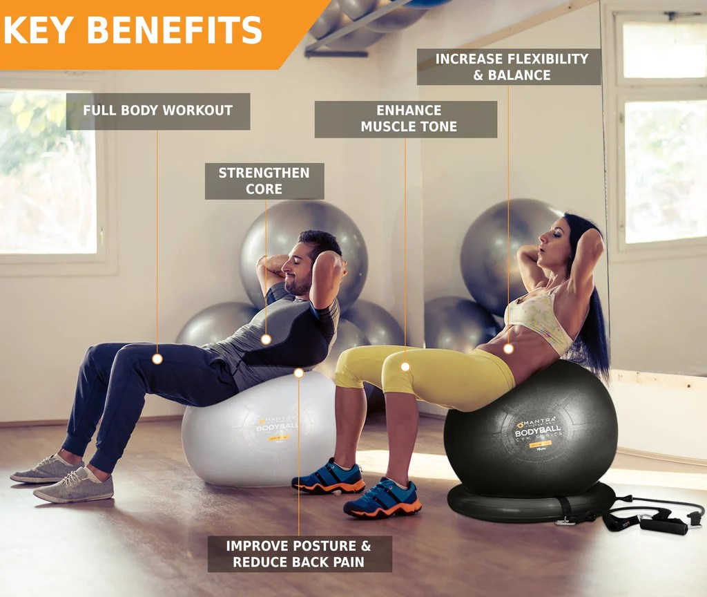Ball Chair Reviews Exercise Ball Chair And Resistance Bands Complete Home Gym