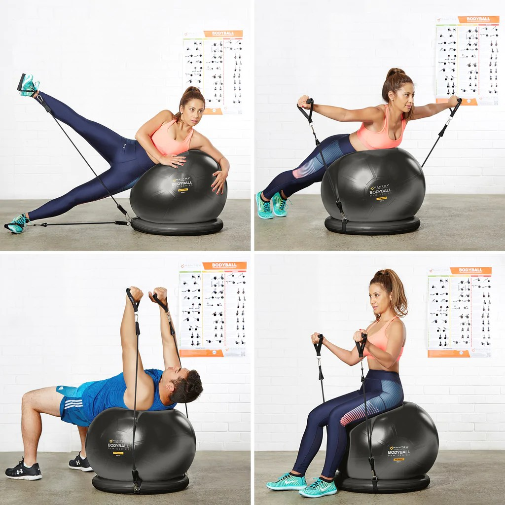 Chair Exercise Exercise Ball Chair Complete Home Gym System Improves Balance Core Strength Posture