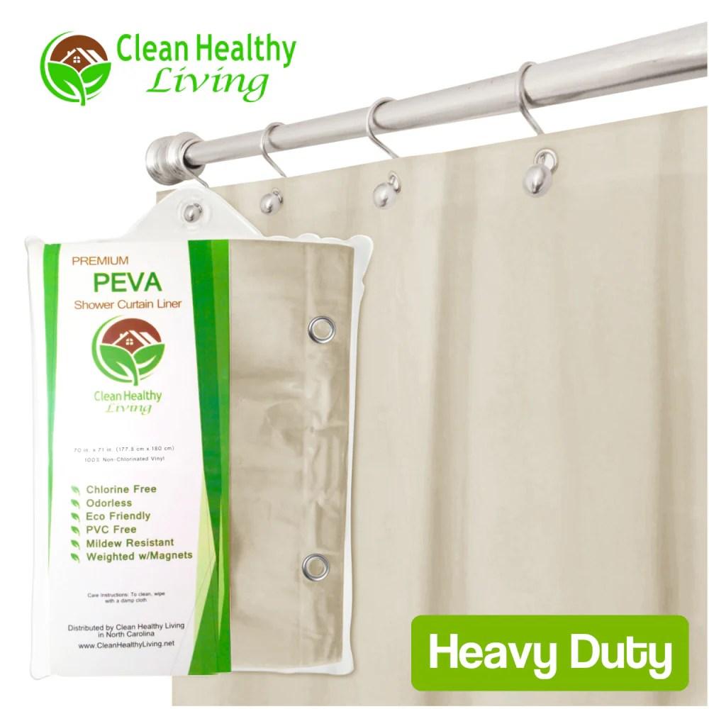 heavy duty peva shower liner tan