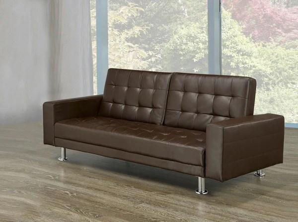 delaney futon sofa bed 3 piece living room set sets cheap brown bedsforless