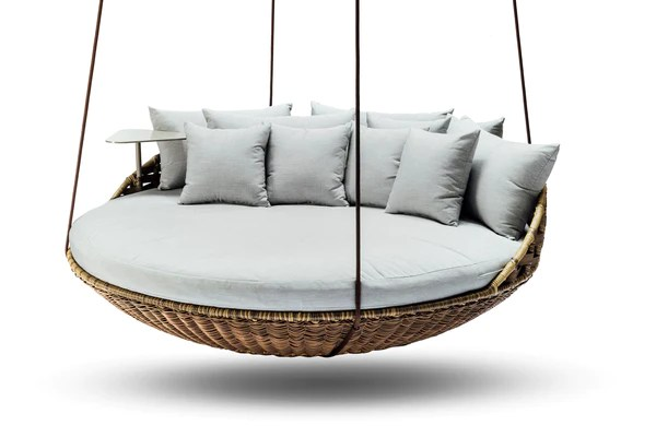 contemporary grey sofa bed used fabric sofas ebay hanging daybed - ansan outdoor furniture