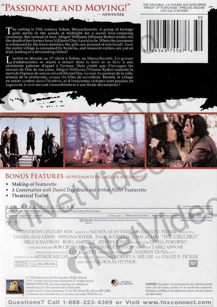 La Chasse Aux Sorcières Usa : chasse, sorcières, Crucible, Chasse, Sorcieres), (Bilingual), Movie