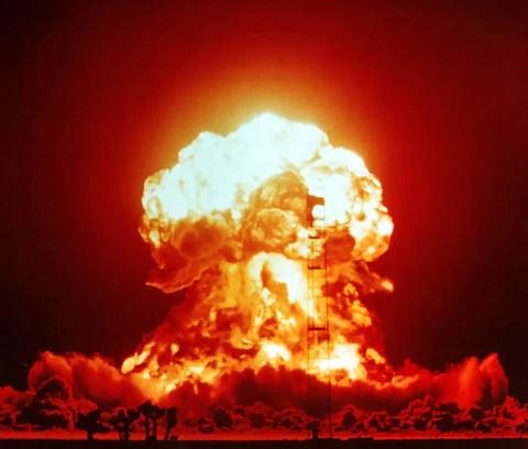 Bomb explosion at 280 dB