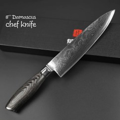Damascus Kitchen Knives Unfinished Pine Cabinets Steel Knife Set 3 Piece Black Edition Warrior 8 Inch Chef