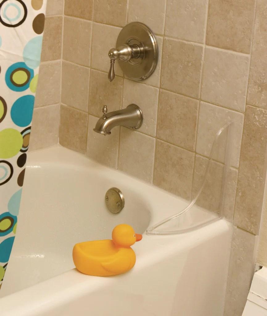 TIDEE TUBB Tub And Shower Splash Guard Clear GRABDASHBAR