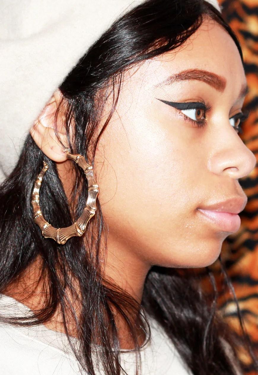 Door Knocker Earrings 90s : knocker, earrings, CLASSIC, BAMBOO, KNOCKER, EARRINGS, Lffboutique