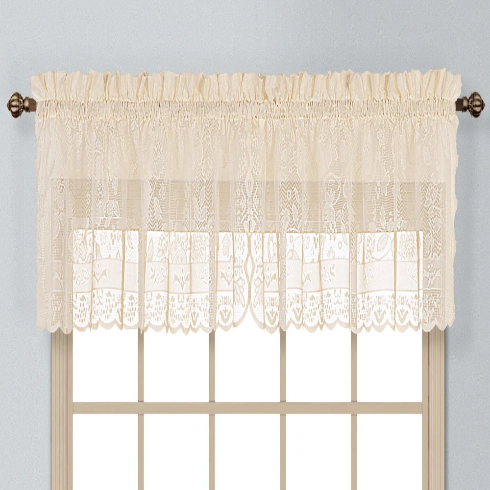 Windsor Lace Kitchen Valance Swags And Tier Curtains