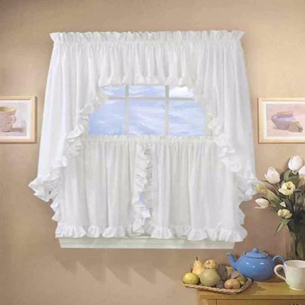 Classic Cape Cod Ruffled Kitchen  Tier Curtain Ellis Curtain  Curtainshopcom