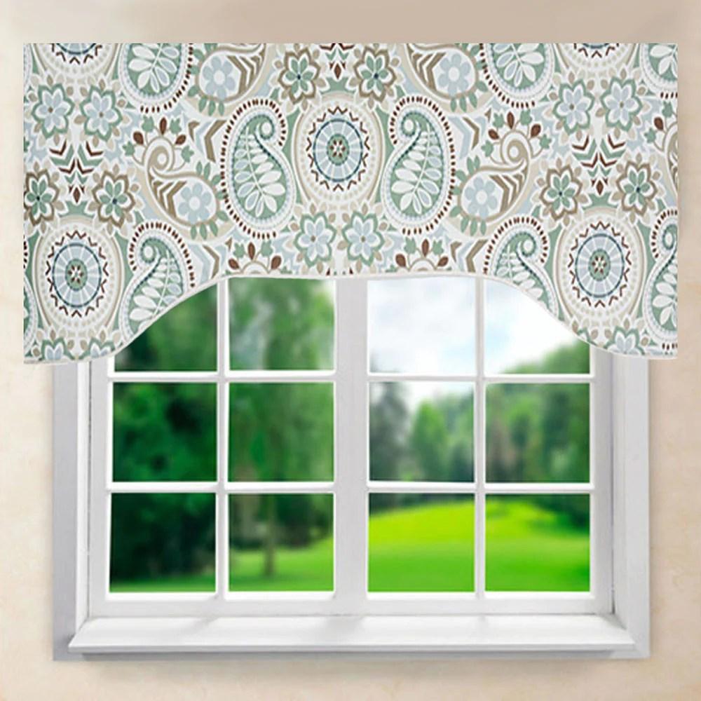 Paisley Prism Arch Valance Ellis Curtain