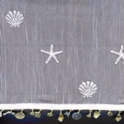 Kitchen Tier Curtains Replacement Cabinets Sand Shell And Valance With Seashell Trim/ Heritage ...