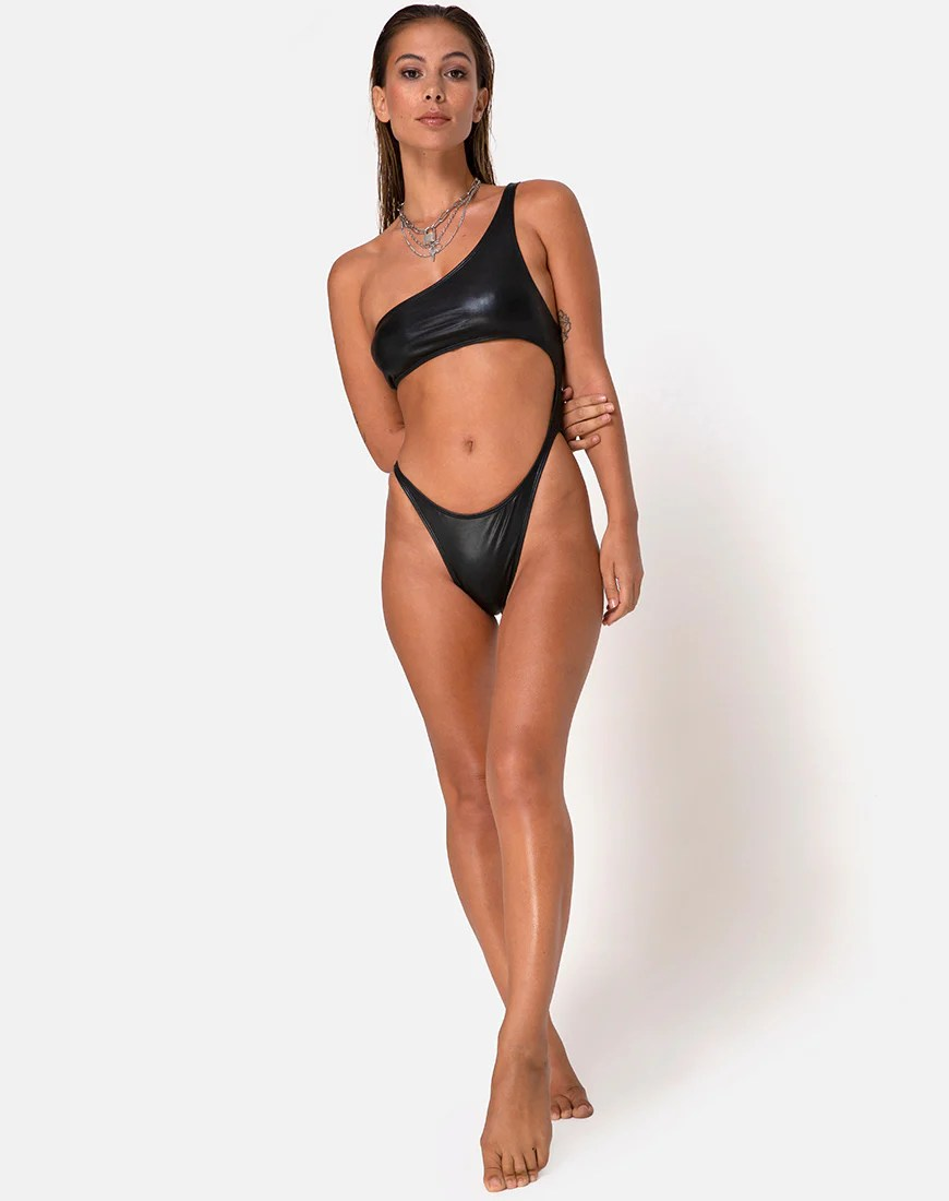 Glater Swimsuit in Black by Motel