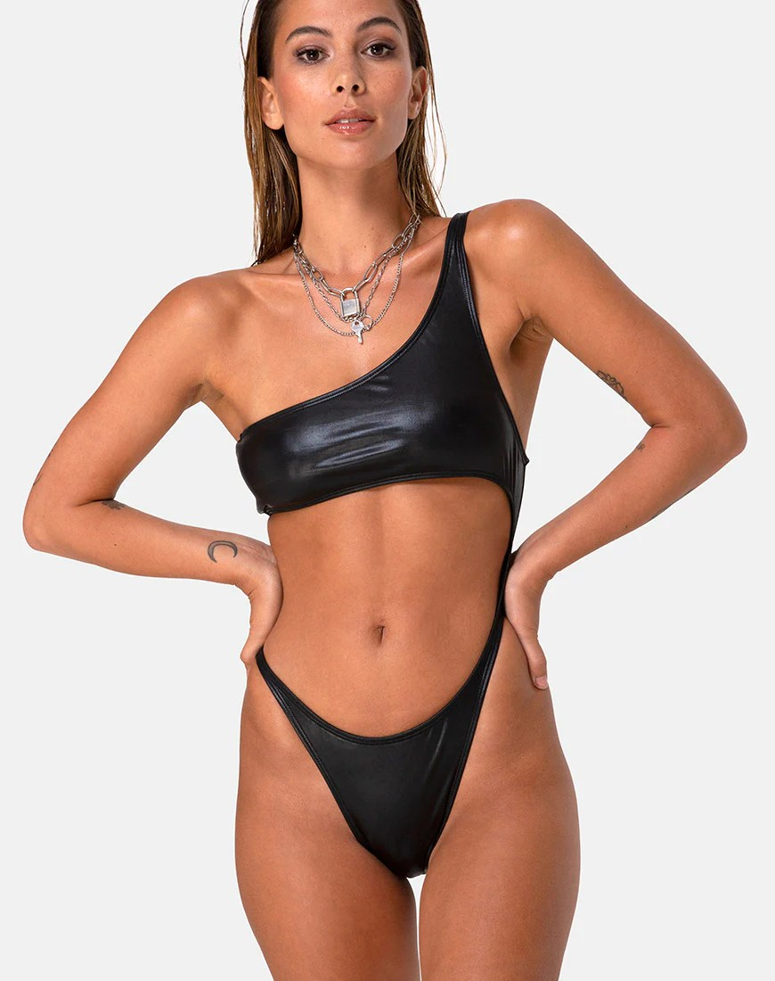 Glater Swimsuit in Black by Motel 4