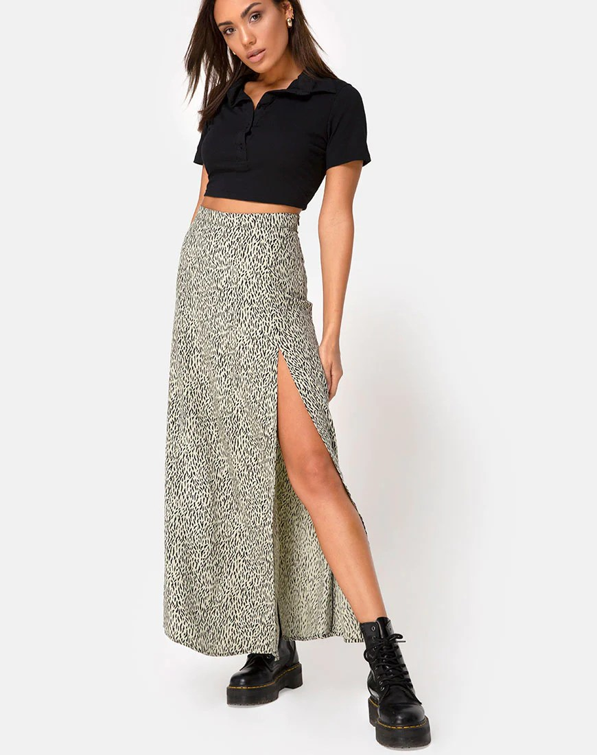 Shayk Maxi Skirt in Mini Jaguar by Motel 9
